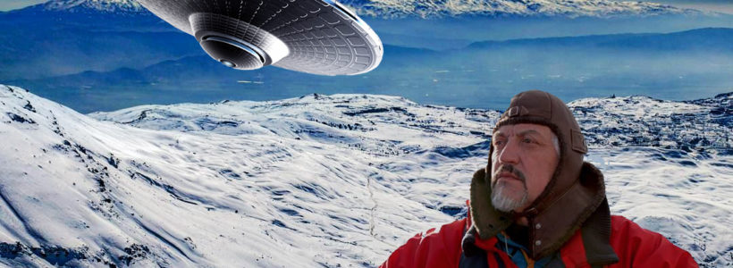 'Something landed' Mystery object spotted in Antarctica as light beams from ice fields